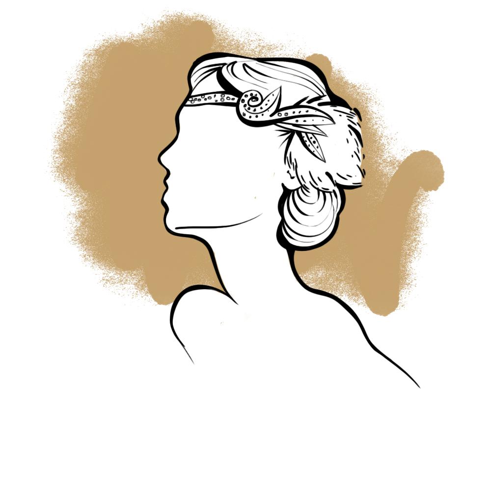 coiffure annees 20 femme headband