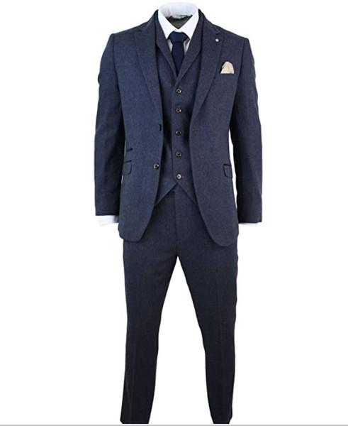 costume-3-pieces-tweed-bleu