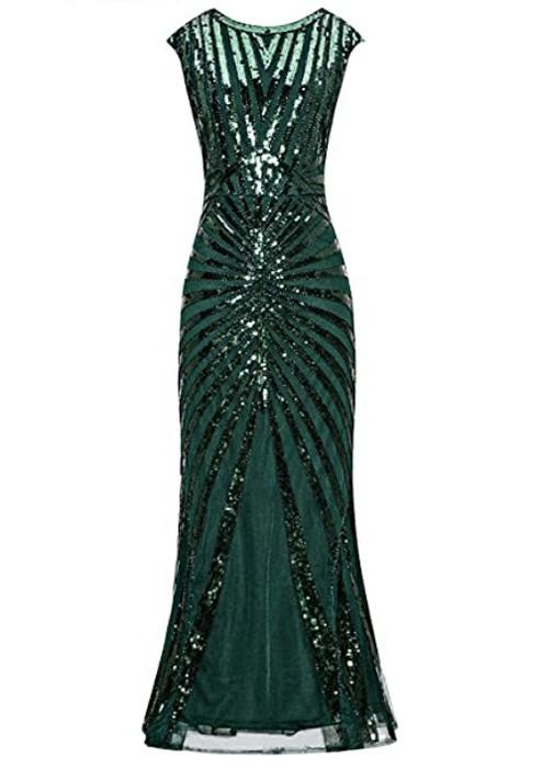 robe-longue-annees-20-vert